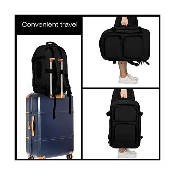 Dinictis 40L Carry on Flight Approved Travel Laptop Backpack, Business Weekender Bag-Black (with 3 cubes)