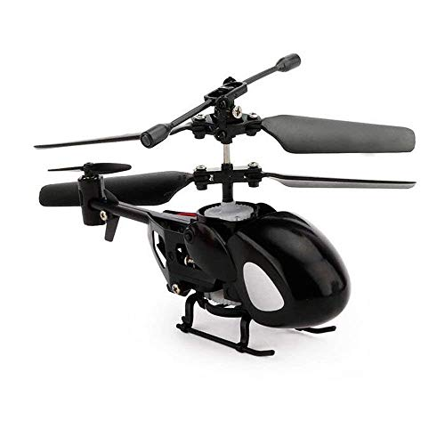 (goodsnowchen World's Smallest RC Helicopter, N5010 3.5CH Miniature Indoor Flying Mini Infrared Remote Control Helicopter Toy with Gyro RC Toy, Pocket Mini Drone for Kids Teenagers Beginners - Black )