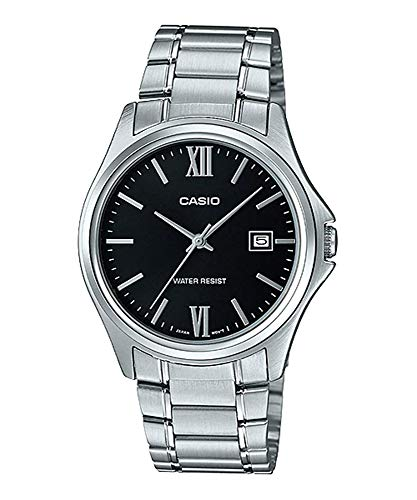 Casio MTP1404D-1A2 Men's Dress Stainless Steel Black Dial 3-Hand Analog Date Watch