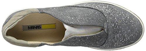 Manas Damen Rodi Slipper Grau (grigio+argento+grigio+argento+grigio)