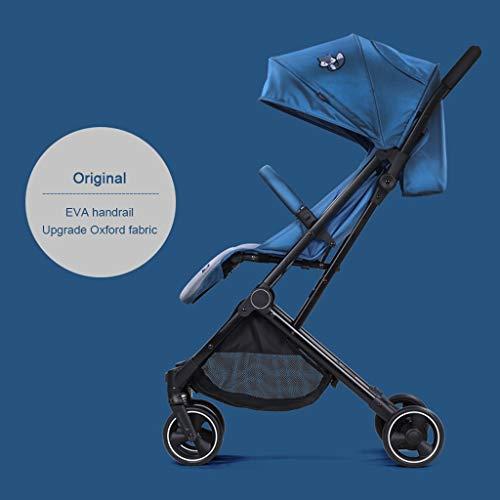 ☝YEC Baby Stroller, Ultra Light and High Landscape Folding Children's Pocket Umbrella Pram (Color : Blue)