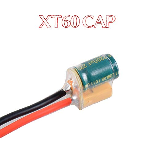 Hockus Accessories RC FPV XT60 Male Power Cable XT60-CAP PCB w 2-6S 2200UF 25V Filter Capacitor 14AWG 150mm Line Wire for Drone Spare Parts