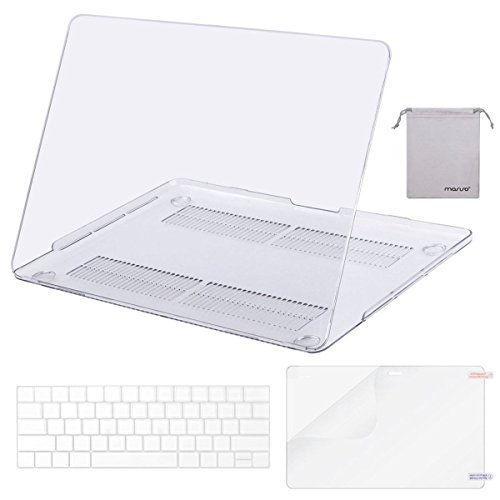 MOSISO MacBook Pro 13 Case 2018 2017 2016 Release A1989/A1706/A1708, Plastic Hard Shell & Keyboard Cover & Screen Protector & Storage Bag Compatible Newest Mac Pro 13 Inch, Crystal Clear