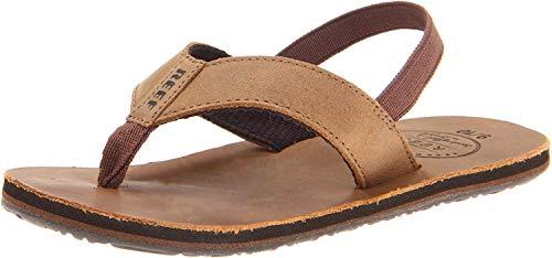 Reef Grom Leather Smoothy Sandal (Toddler/Little Kid/Big Kid),Bronze Brown,Small/Medium (9/10 M US Toddler)