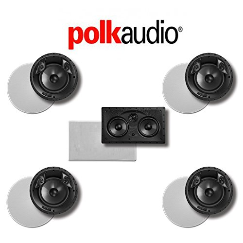 Polk Audio 80 F/X-LS 5.0-Ch Vanishing Series in-Ceiling/in-Wall Home Speaker System (80-F/X-LS + 255C-LS)
