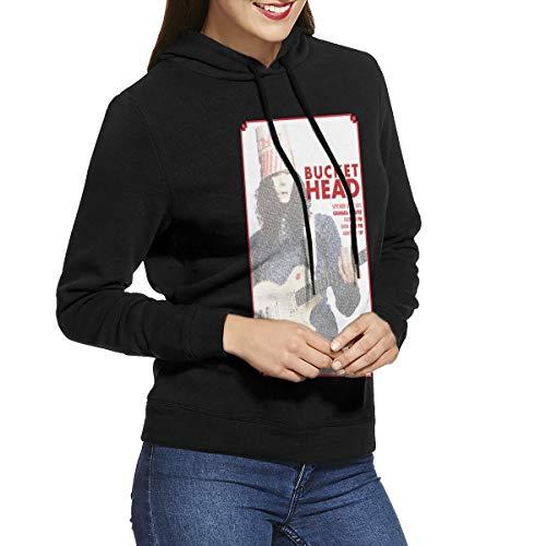 (Kangtians RHZTPYRDE Buckethead Women's Hooded Sweatshirt Black)
