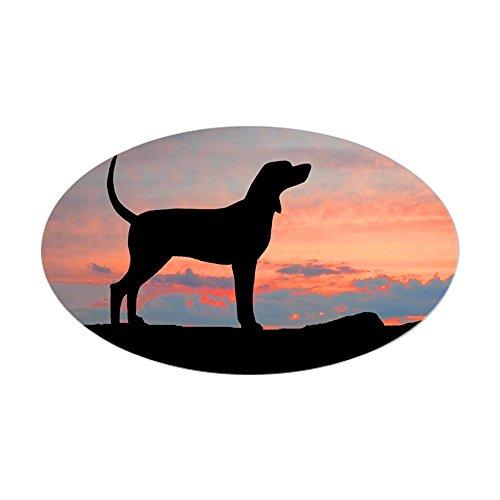 CafePress Bluetick Coonhound Sunset Oval Sticker Oval Bumper Sticker, Euro Oval Car Decal