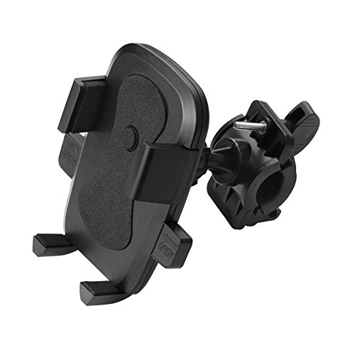 Sienoc Universal 360 Degree Adjustable Mountain Rotating Bicycle Motorcycle Mount Bike Handlebar Cell Phone Holder Cradle width from 2.4 inch to 3.75 inch for Iphone Samsung Galaxy GPS MP4/5 PDA Black