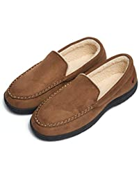 Mens House Slippers Memory Foam Loafers for Men Indoor Outdoor Slip on House Shoes Winter Casual Moccasin Slippers