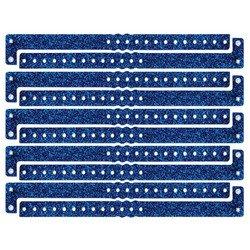 Plastic Sparkle Wristbands (blue) (100/Box) ()
