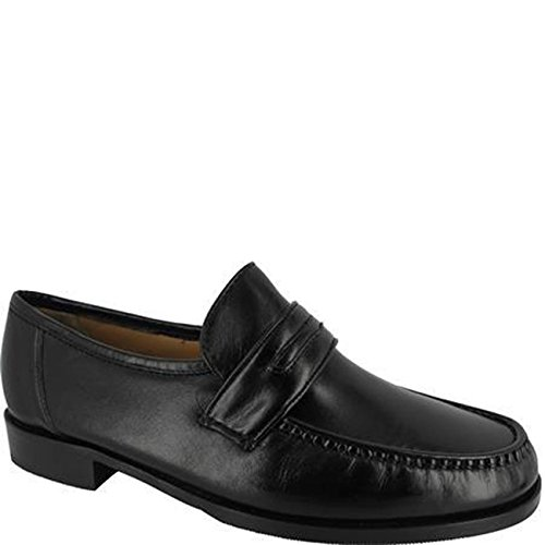 Ambre Mens Casper Loafer Extra wide Shoe Black Black HfrLbfI3