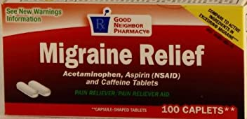 GNP Migraine Relief (100 Cap) by Good Neighbor Pharmacy