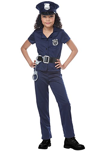 Cute Cop Girls Costume Navy -