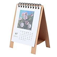 KIICN Cute Cartoon Calendar Desk Calendar Storage Box Scheduler Monthly Fodable Multi-Function