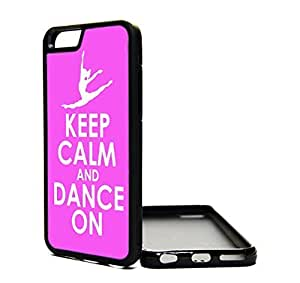 iPhone 6 Case Popular Keep Calm and Dance Ballerina Ballet Hipster Cover Skin BLACK RUBBER SILICONE TPU Teen Girls Gift Vintage Fashion Design Art Print Cell Phone Accessories