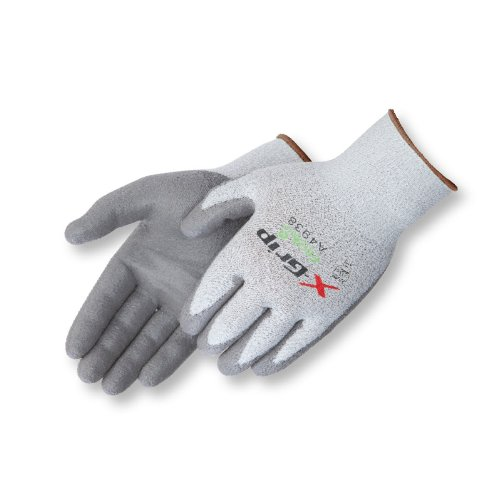 (Liberty X-Grip Polyurethane Palm Coated Glove with 13-Gauge Wooltran Polyester Shell, Cut Resistant, Small, Gray (Pack of 12))