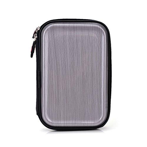 Kroo Makeup Brusher Organizer Fashionable Bag Brushes Brush Case Holder Cosmetic Travel Small Hard EVA, Brushed Metal Look-Pink Camoflauge