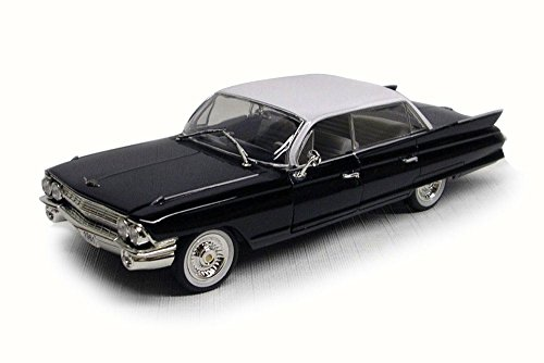 Signature Models 1961 Cadillac Sedan DeVille, Black w/ White Roof 32362 - 1/32 Scale Diecast Model Toy Car ()