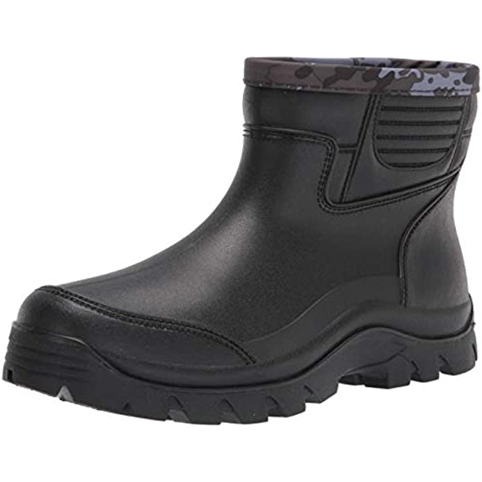 Gets Rain Boots for Mens Waterproof Light Rubber Ankle Boots for All Type of Weather