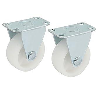 eDealMax 1,5 pulgadas PP sola rueda metálica fija la Silla del balanceo de la