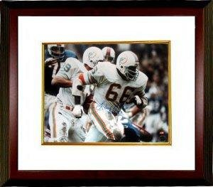 Photomint Coins Framed (Larry Little Signed Photo - 16x20 Custom Framed HOF 93 - Autographed NFL Photos)