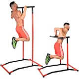 GoBeast Pull Up Bar and Dip Stand - Portable...