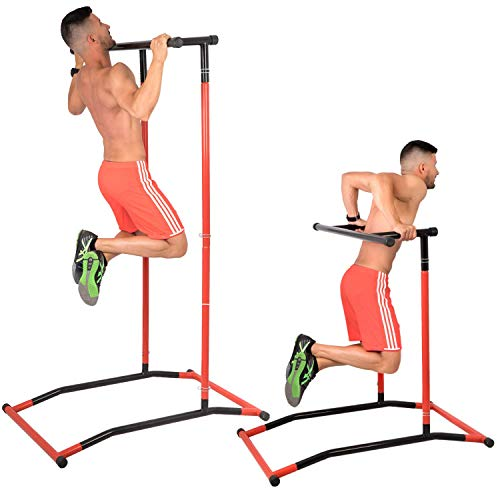 GoBeast Pull Up Bar and Dip Stand - Portable Gym Power Tower - Calisthenics Outdoor Workout Station...