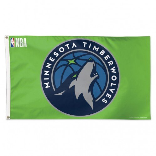 WinCraft NBA Minnesota Timberwolves 3 x 5 Foot Green Deluxe Flag by WinCraft