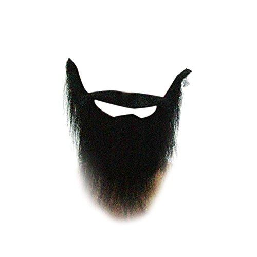 [TorDen 2 PCS Black Fake Beard and Mustache] (Fake Beards That Look Real)