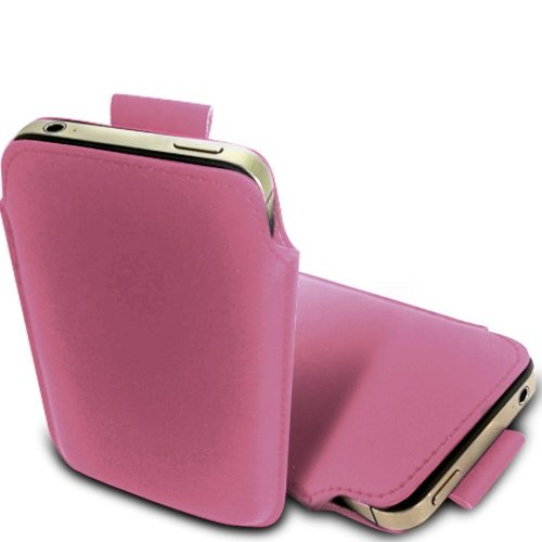 N E Fing Light Pink PU leather pull - Nokia Lumia N 900 Case