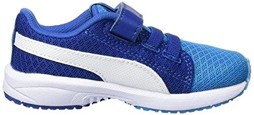 Puma Unisex-Kinder Carson Runner Mesh Ve V Inf Low-Top Blau (blue danube-puma white 02)