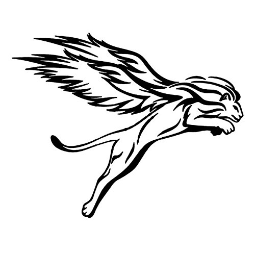 Exterior Accessories - Detroit Lions Sticker Decal Lion Car Accessories Stickers And Decals For - 25x20cm Winged Lion Reflective Car Stickers Auto Truck Vehicle Motorcycle Decal - - 1pcs