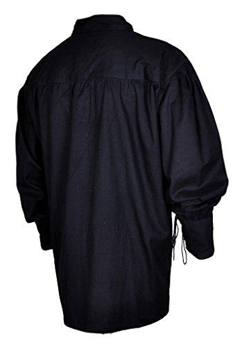Black Mygothicshop Camicia Casual Asimmetrico Uomo HPPA6fq8