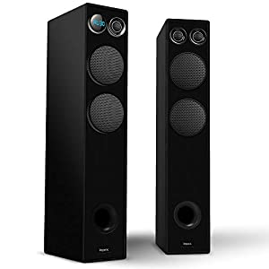 Impex 2.0 Thunder T5 120 W Multimedia Tower Speaker System with Wired Mic & FM/SD/USB/MMC/Remote Functions (Black)