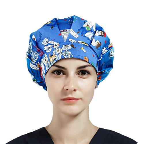 1pc Women's Bouffant Scrub Cap for Long Hair Ladies