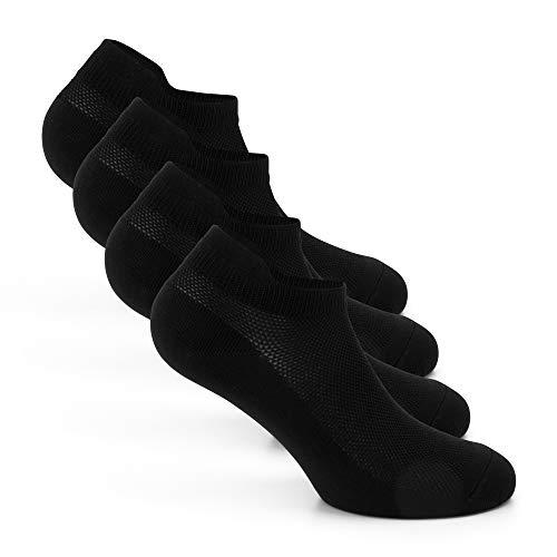 Snocks ® Herren & Damen Atmungsaktive Laufsocken (4x Paar) Kompression + Schutz vor Blasen