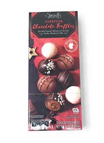 Specially Selected European Chocolate Truffles, Imported from Germany, 5.29 Ounces, 12 Pieces