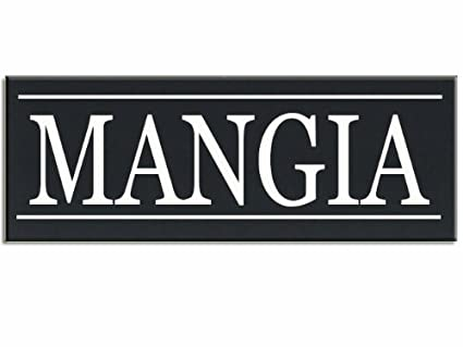 Mangia Italian Word for Eat Wood Grandpa Handpainted 16\