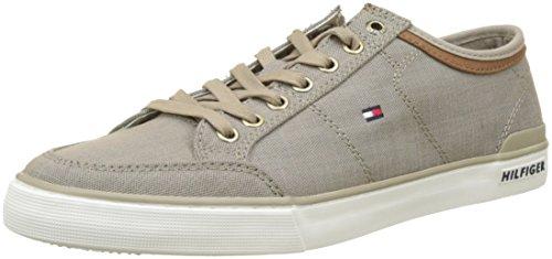 Tommy Hilfiger Core Materiaalmix Sneaker Heren Sneakers Beige