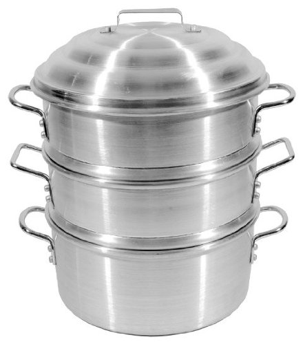 Town Food Service 14 Inch Aluminum Steamer Set