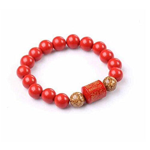 - juyude Cinnabar bracelet, ladies' jewelry, hand strings, hand, lovers, beads, bracelet, small girl, 8mm