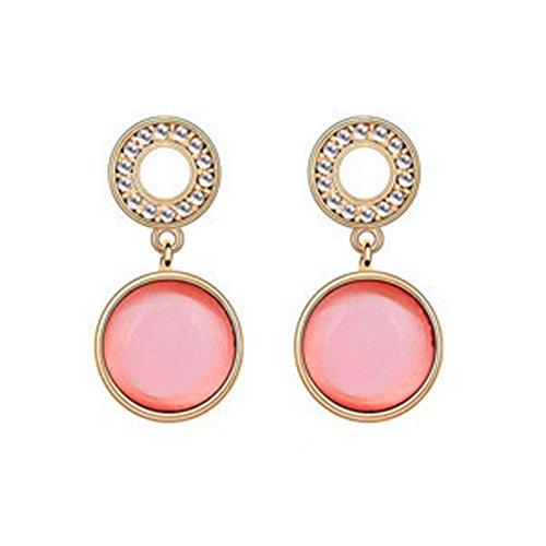 MosierBizne Crystal Bubble Circle Earrings(1)