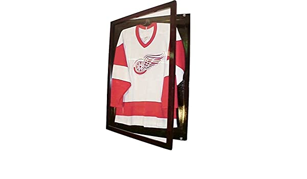 10e715a325c Small Cherry Jersey Display Case Football Basketball Hockey Baseball Jersey  Display Case Shadow Box Frame, 98% Uv Protection Door, with Hanger P312C by  ...