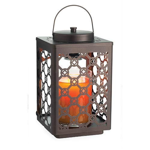 CANDLE WARMERS ETC Garden Candle Warmer Lantern for Top-Down Candle Melting, Oil Rubbed Bronze (Garden Lanterns Large Candle)