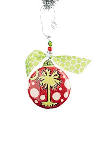 Glory Haus 4 X 4 Palmetto Puff Ornament, Multicolor