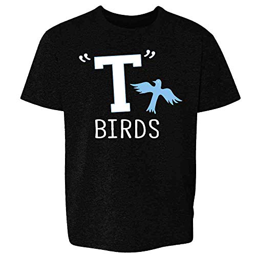 T Birds Tbird Costume Men Gang Logo Retro 50s 60s Black S Youth Kids Girl Boy ()