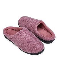 DRSLPAR Women Men House Warm Slippers Comfort Fleece Lining Memory Foam Slip-on Indoor Outdoor Scuff Slippers