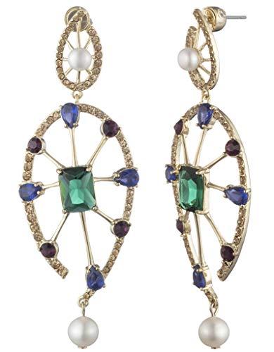Carolee Women's Double Drop Pearl Earring