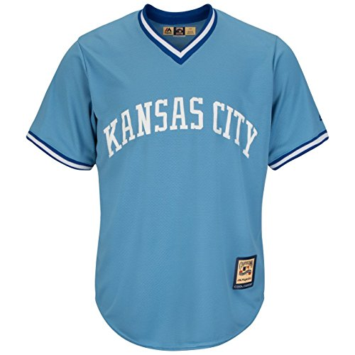 Kansas City Royals MLB Men's Cool Base Cooperstown Pullover Jersey (Kansas Jersey)