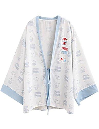 [サ二ー] カーディガン レディース 長袖 夏 ゆったり uvカット ロング Vネック 薄手 ロング 羽織 空調服 大きいサイズ 和風